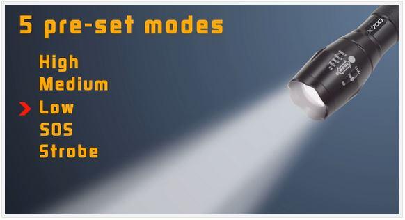 Alumnitact x700 Tactical Flashlight