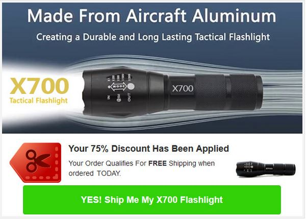 x700 Tactical Flashlight Offer