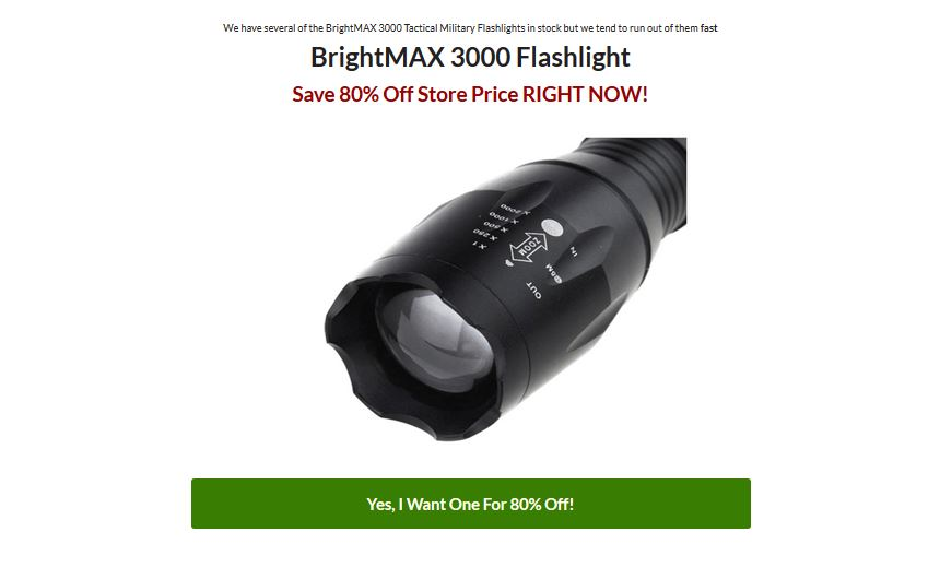 Brightmax 3000 Tactical Flashlight Offer