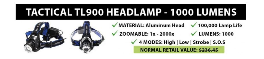TL900 LED Headlamp